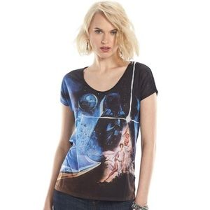 Star Wars A New Hope Embellished Graphic Tee Shirt